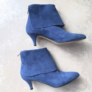 BUTTER BLUE SUEDE SHOES SIZE 6 Italian made GUC